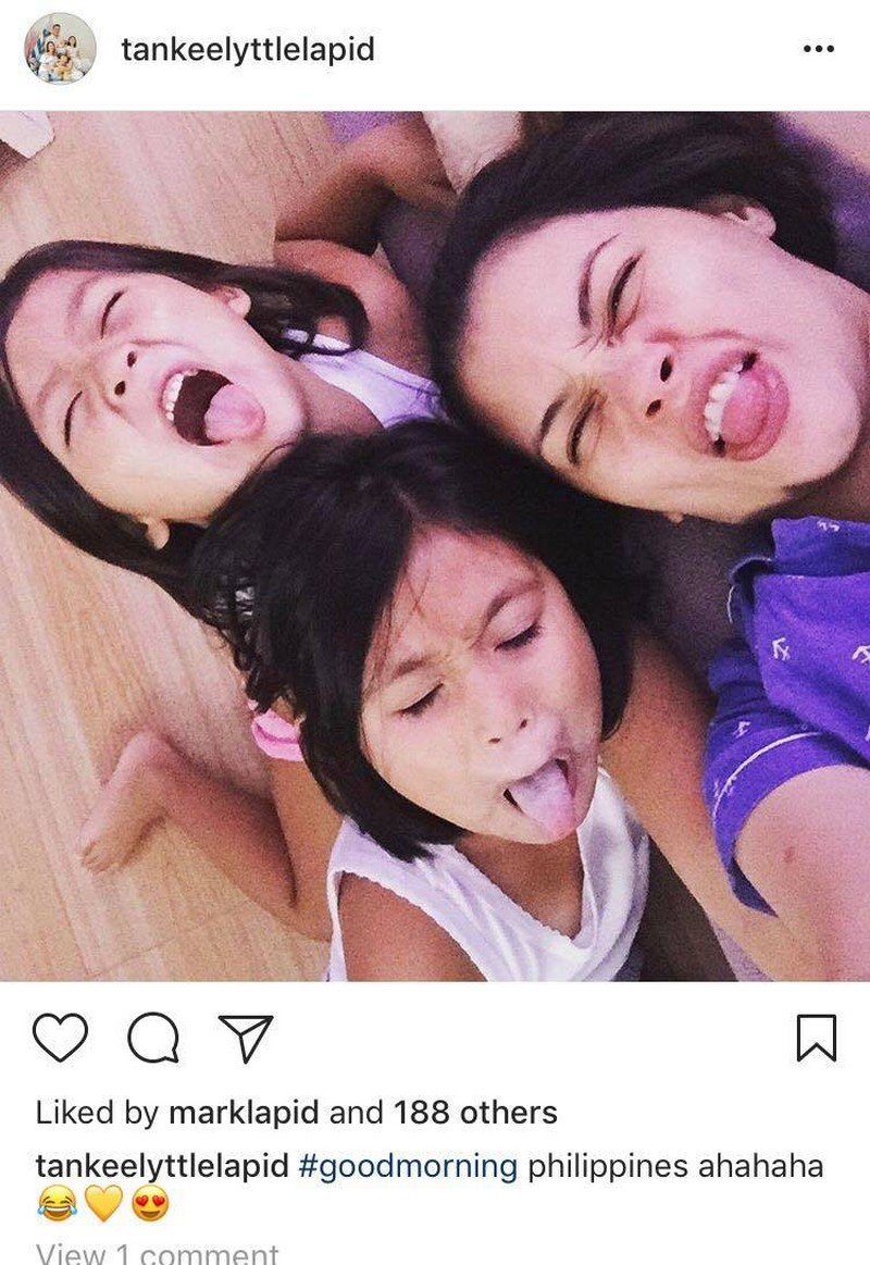 "LOOK: Tanya Garcia with her adorable ""Tres Marias"""